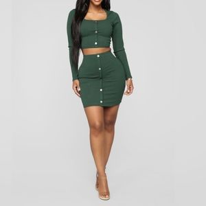 Green 2 piece Set